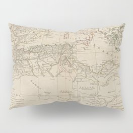 A map of Barbary, containing the Kingdoms of Marocco, Fez, Algier, Tunis and Tripoli, with the adjacent countries Pillow Sham