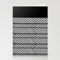 herringbone Stationery Cards featuring Herringbone Boarder by Project M