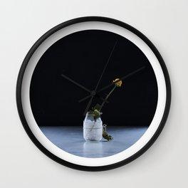 Oblò: The yellow flower Wall Clock