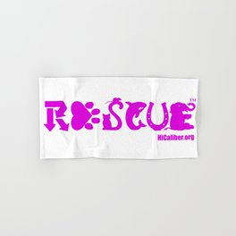 Rescue Hot Pink Hand & Bath Towel
