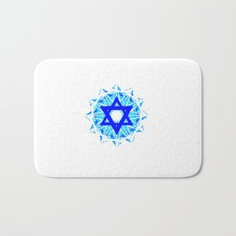 Jewish Star Bath Mat