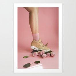 SOILANDSOLE SNEAKER AND ROSES Art Print