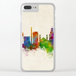 Durham North Carolina Skyline Clear iPhone Case