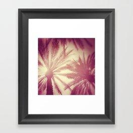 Bright Palms Framed Art Print
