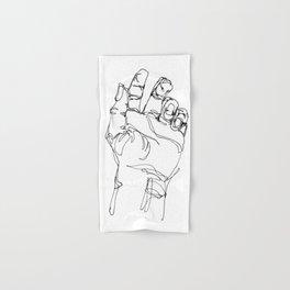 Ink doodle hand #2 Hand & Bath Towel