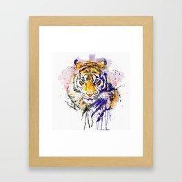 Tiger Head Portrait Framed Art Print