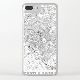 Newcastle upon Tyne Map Line Clear iPhone Case