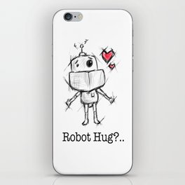 Little Robot Hug Anyone? iPhone Skin
