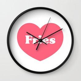 Heart Fries Wall Clock