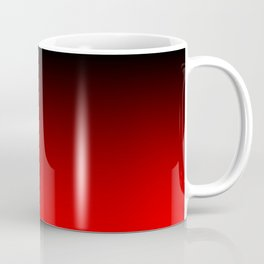 Black Red Neon Nights Ombre Coffee Mug