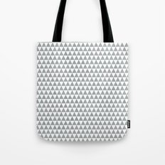 triangles - gray and white Tote Bag