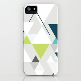 Triangles and a moose iPhone Case