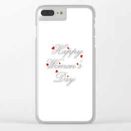 International womens day Clear iPhone Case