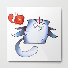 Starscream and Knockout dumpling cats Metal Print