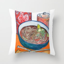 Ode To Pho Throw Pillow
