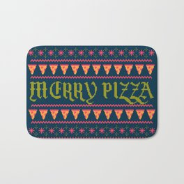 Merry Pizza Bath Mat