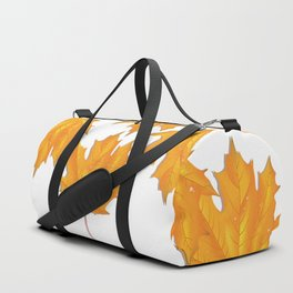 Orange maple leaf Duffle Bag