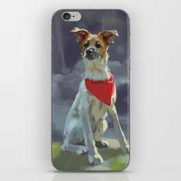 Puppy with Red Scarf iPhone Skin