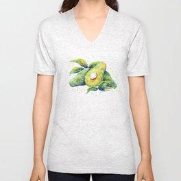Avocados - Watercolor Unisex V-Neck