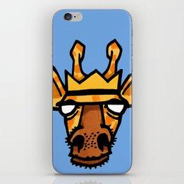king giraffe iPhone Skin