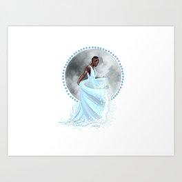The Moon Goddess Art Print