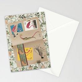 ornithology notebook - flamingo Stationery Cards