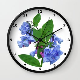 Spring Bluebells Wall Clock