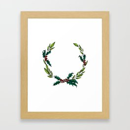 holly jolly Framed Art Print