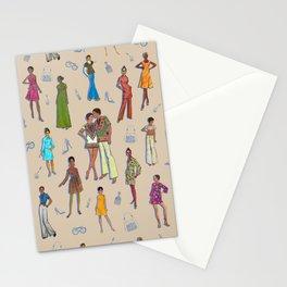 Retro Fashion Illustration Stationery Cards