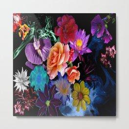 Colorful Fractal Flowers Metal Print