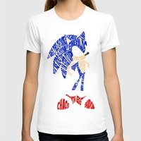 sonic T-shirts featuring Typography SONIC! by KeenaKorn