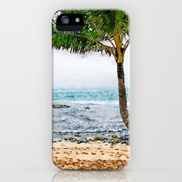 Maui Palm Tree iPhone Case