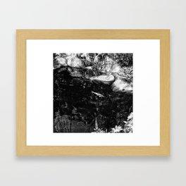 Reflecting Pond (Black & White) Framed Art Print