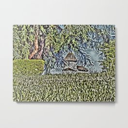A Middle Ages Church Metal Print