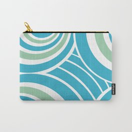 Turquoise and Mint Abstract Carry-All Pouch