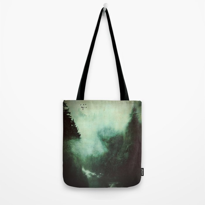Morning dust on Mountains - Forest Wood Tree Tote Bag