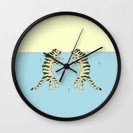 swimming tiger Wall Clock