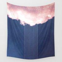 rain Wall Tapestries featuring Rain by SUBLIMENATION