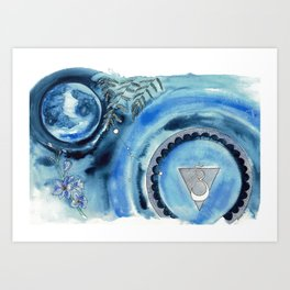 Cancer Moon Art Print