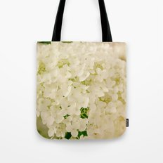 Vintage Nature Botanical White Hydrangea Flower Head Tote Bag