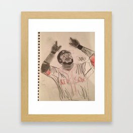 David Ortiz Framed Art Print