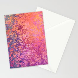 Abstract Splatter in Sunset Stationery Cards
