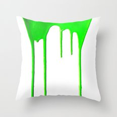 Green Splatter Throw Pillow