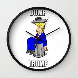 DUMP TRUMP Wall Clock