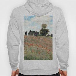 1873-Claude monet-Poppy Field-50 x 65 Hoody