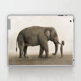 One Amazing Elephant - sepia option Laptop & iPad Skin