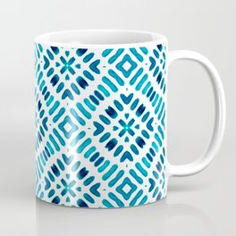 Shibori Watercolour no.7 Turquoise Coffee Mug