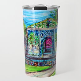 Airlie Gardens Bottle chapel painting Travel Mug
