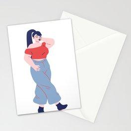 modern beautiful  woman Stationery Cards
