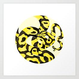 Yellow Snake Art Print
